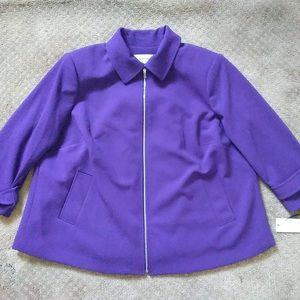Calvin Klein Zip Blazer Jacket Purple Violet 16W